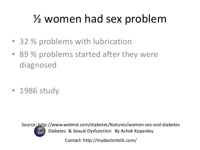 Sexual problems with diabetes