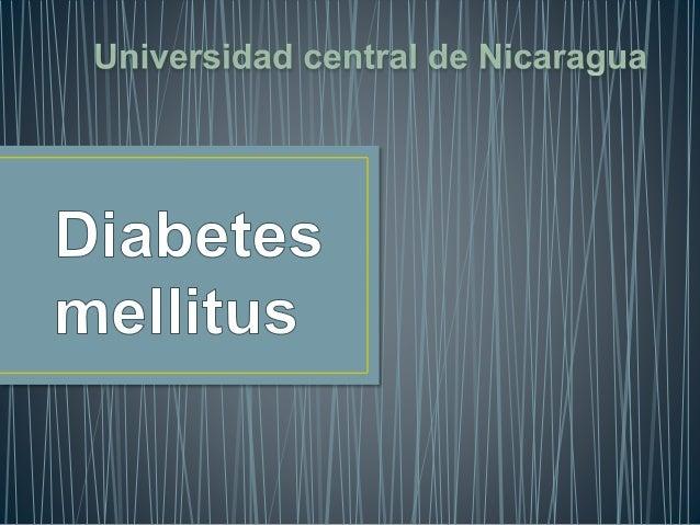 Es una enfermedad que se caracteriza por un aumento en las concentraciones de glucosa en sangre que es debida a una secrec...