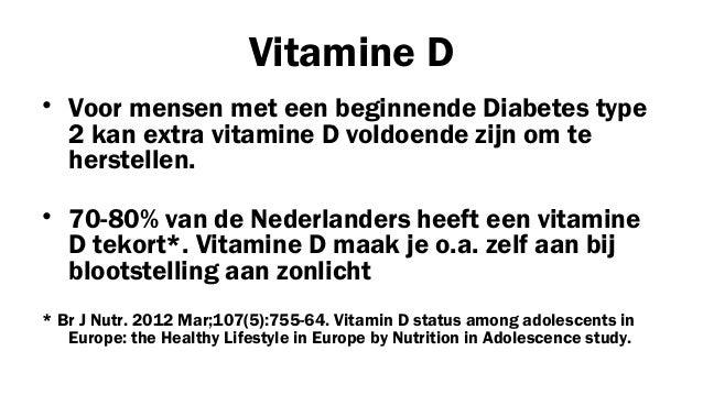 diabetes type 2 genezen met voeding