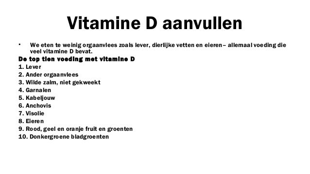 vitamine voor de lever