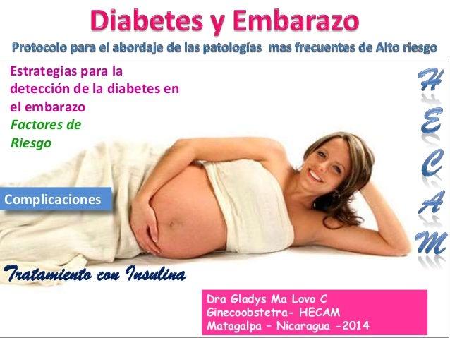 Estrategias para la detección de la diabetes en el embarazo Factores de Riesgo Complicaciones Tratamiento con Insulina 1 D...