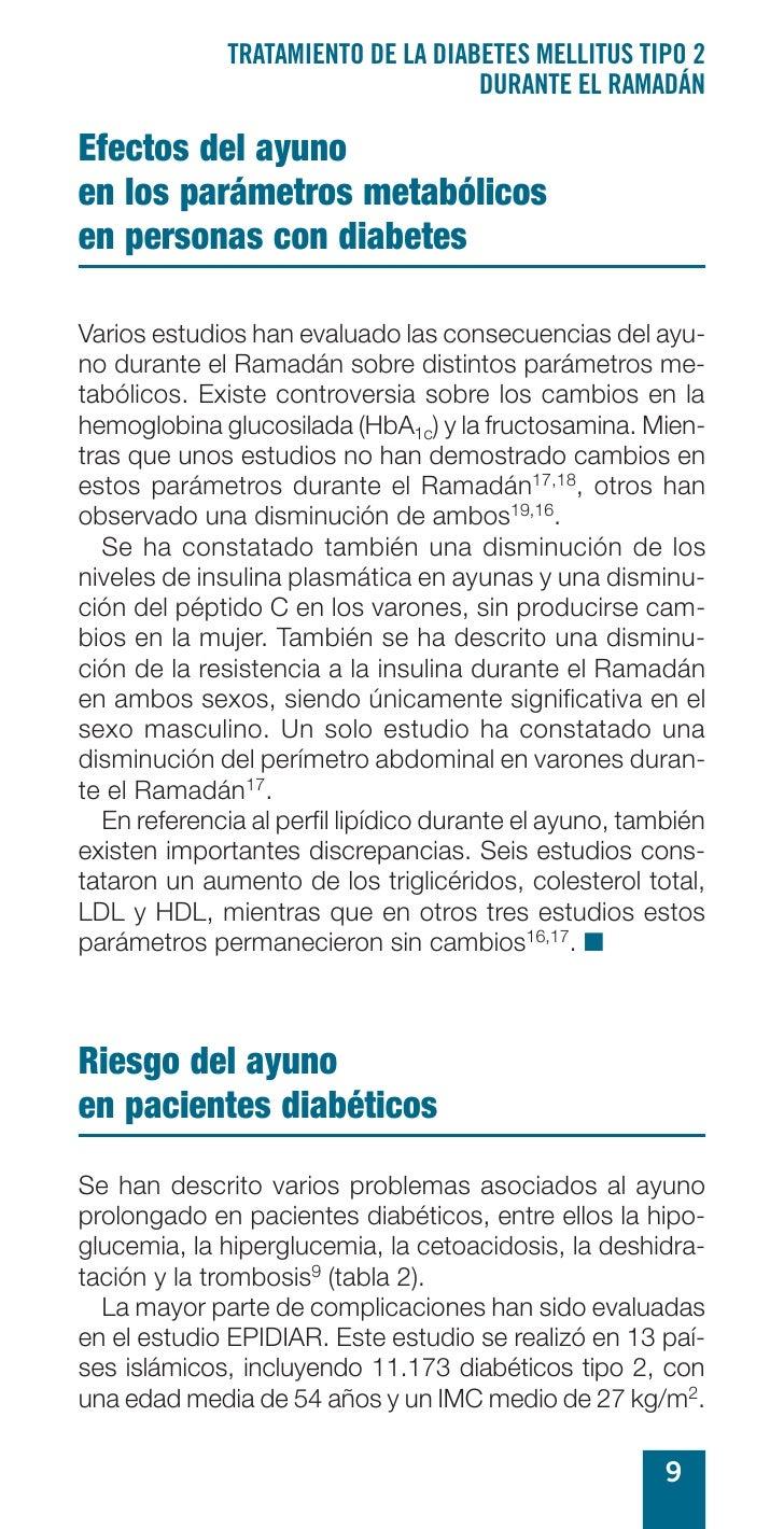 TRATAMIENTO DE LA DIABETES MELLITUS TIPO 2                                     DURANTE EL RAMADÁN  Efectos del ayuno en lo...