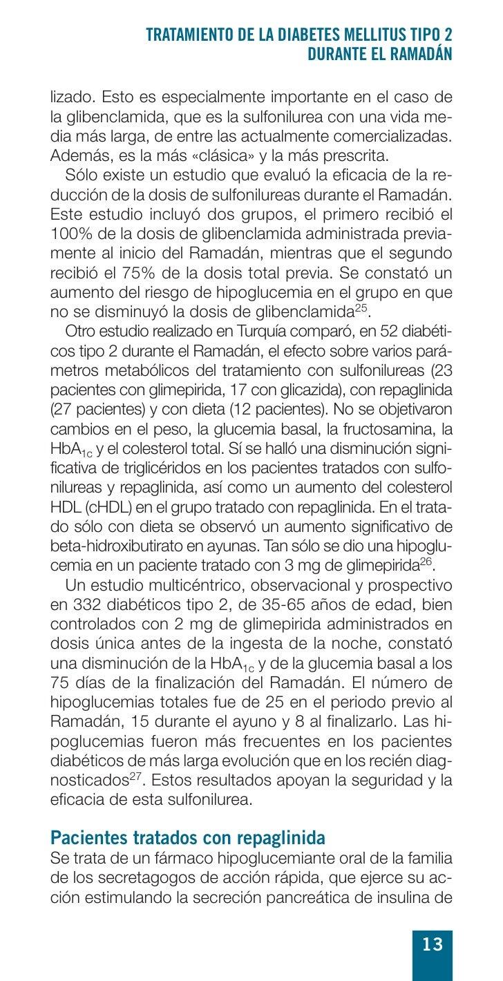 TRATAMIENTO DE LA DIABETES MELLITUS TIPO 2                                     DURANTE EL RAMADÁN  lizado. Esto es especia...