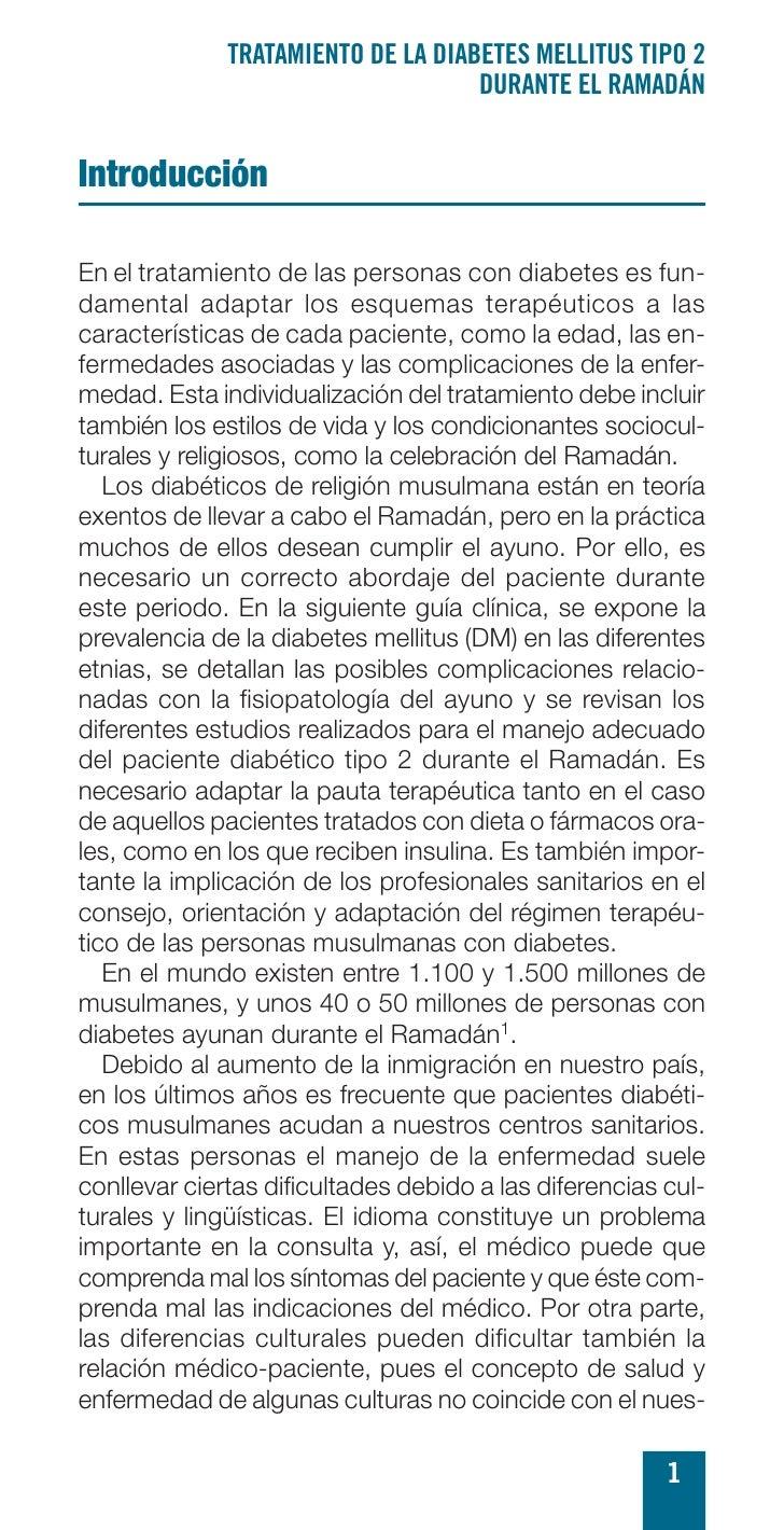 TRATAMIENTO DE LA DIABETES MELLITUS TIPO 2                                     DURANTE EL RAMADÁN   Introducción  En el tr...