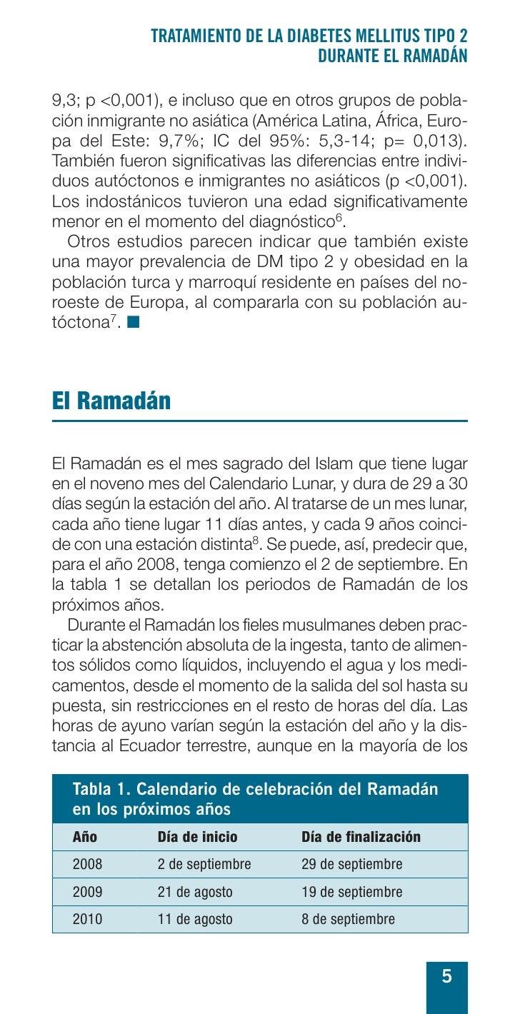 TRATAMIENTO DE LA DIABETES MELLITUS TIPO 2                                     DURANTE EL RAMADÁN  9,3; p <0,001), e inclu...