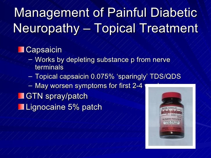 Capsaicin neuropathy precautions