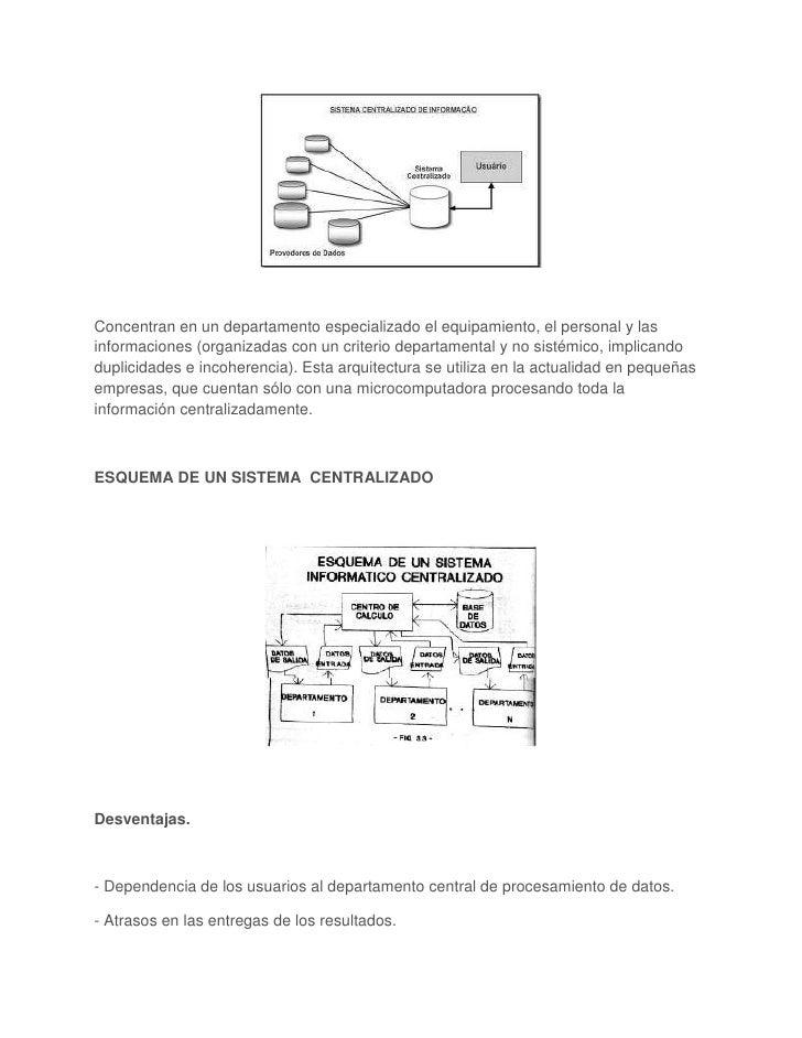 Concentran en un departamento especializado el equipamiento, el personal y lasinformaciones (organizadas con un criterio d...