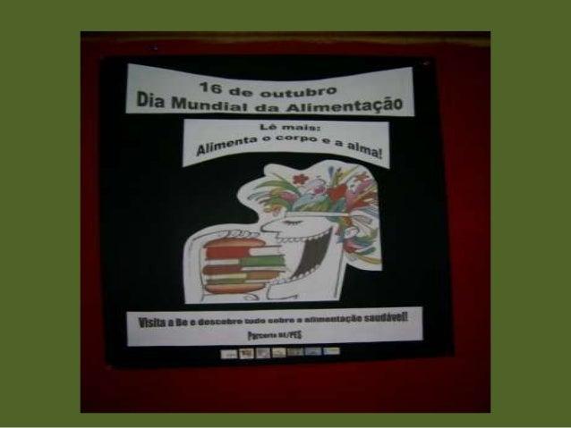 No dia 16 de outubro, na BE da Escola Sede, no âmbito do projeto SOBE/Alimentação, criámos o Cantinho Saudável com sugestõ...