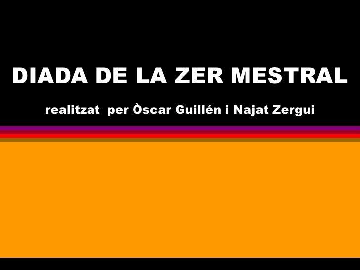 DIADA DE LA ZER MESTRAL realitzat   per Òscar Guillén i Najat Zergui