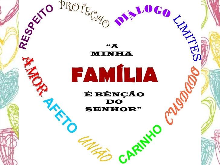 Mensagem De Proteção A Familia Ud95: Dia Da Família 3º Ano Blog