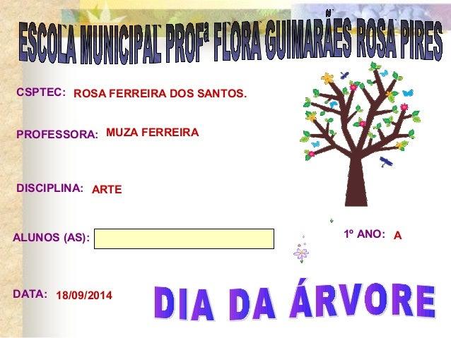 CSPTEC:  PROFESSORA:  DISCIPLINA:  ALUNOS (AS): 1º ANO:  DATA:  ROSA FERREIRA DOS SANTOS.  MUZA FERREIRA  ARTE  A  18/09/2...