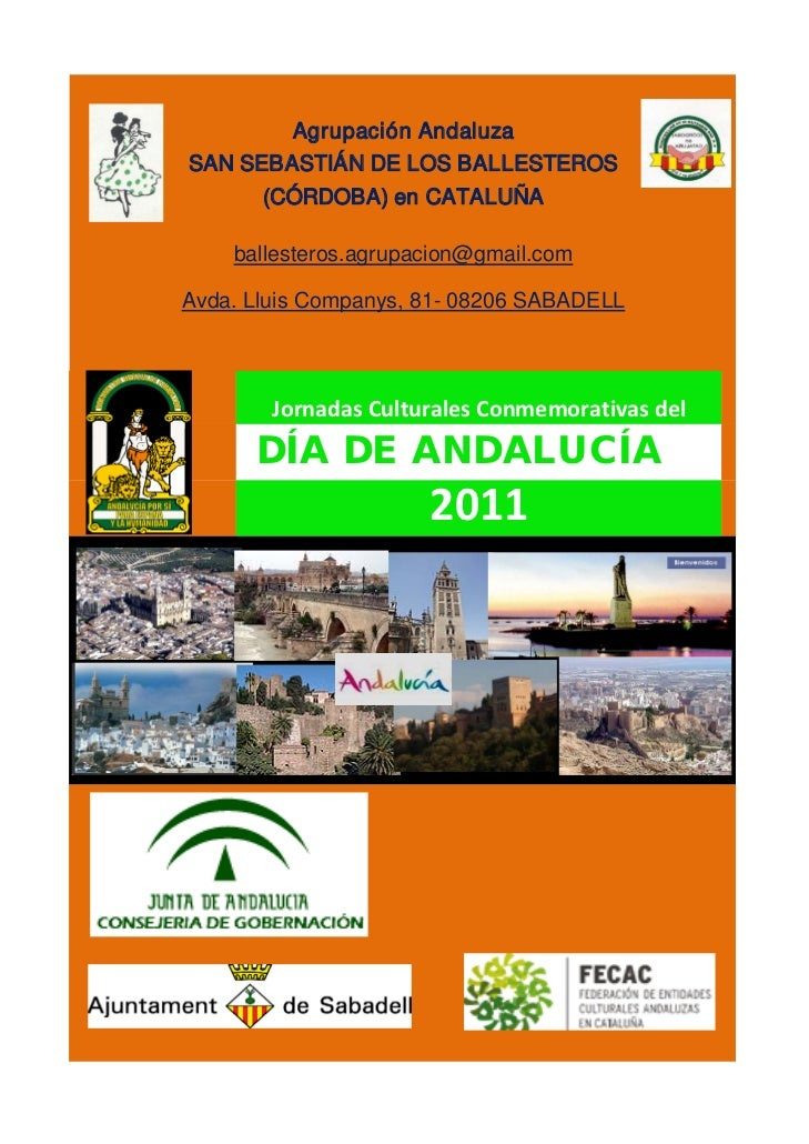Agrupación AndaluzaSAN SEBASTIÁN DE LOS BALLESTEROS       (CÓRDOBA) en CATALUÑA    ballesteros.agrupacion@gmail.comAvda. L...