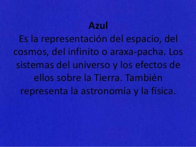Violeta Es la representación de la política, del poder comunitario y la armonía de los Andes. Las organizaciones económica...