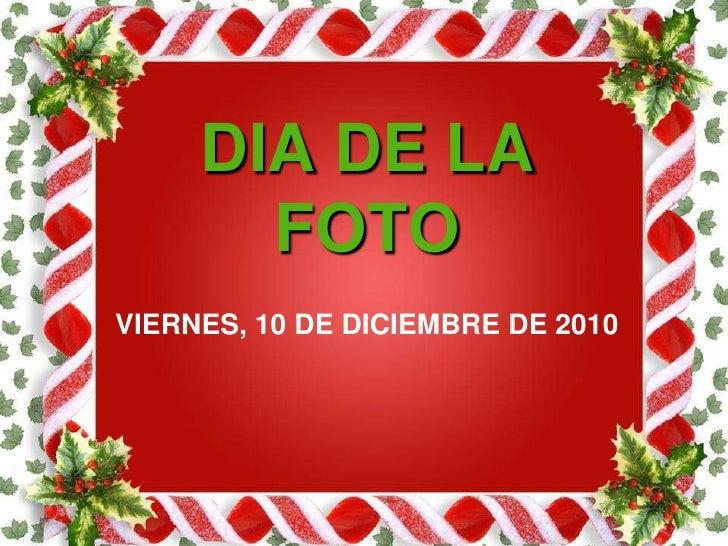 DIA DE LA FOTO <br />VIERNES, 10 DE DICIEMBRE DE 2010<br />