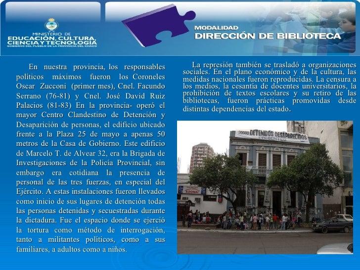 <ul><li>La represión también se trasladó a organizaciones sociales. En el plano económico y de la cultura, las medidas nac...