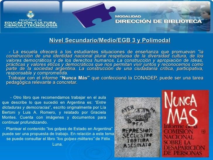 """Nivel Secundario/Medio/EGB 3 y Polimodal - La escuela ofrecerá a los estudiantes situaciones de enseñanza que promuevan """"l..."""