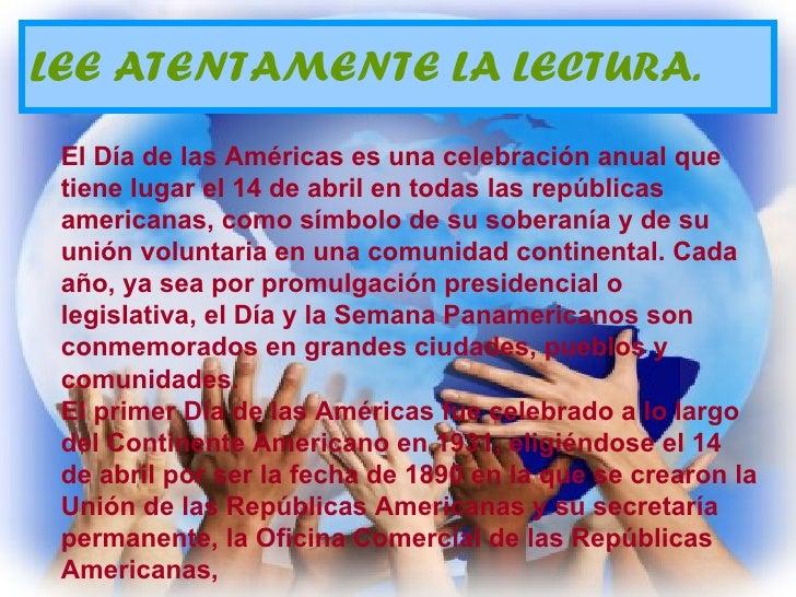 Dia de las americas