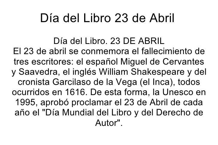 Resultado de imagen para 23 de abril dia del libro y del idioma