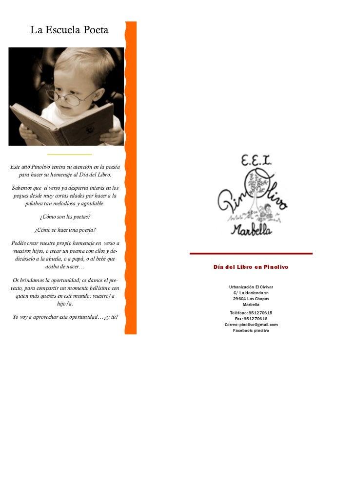 La Escuela Poeta                                                                                        Pinolivo:         ...