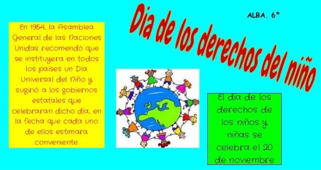 Dia de los derechos del niño alba