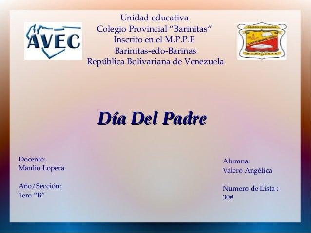 """Unidadeducativa ColegioProvincial""""Barinitas"""" InscritoenelM.P.P.E BarinitasedoBarinas RepúblicaBolivarianade..."""