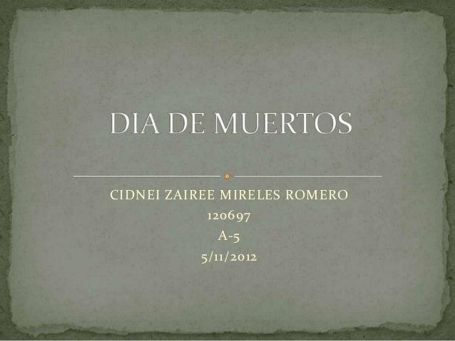 CIDNEI ZAIREE MIRELES ROMERO            120697              A-5           5/11/2012