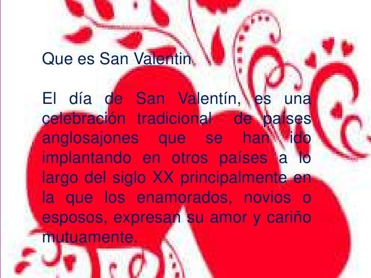 San Valentínu003cbr /u003e; 2.