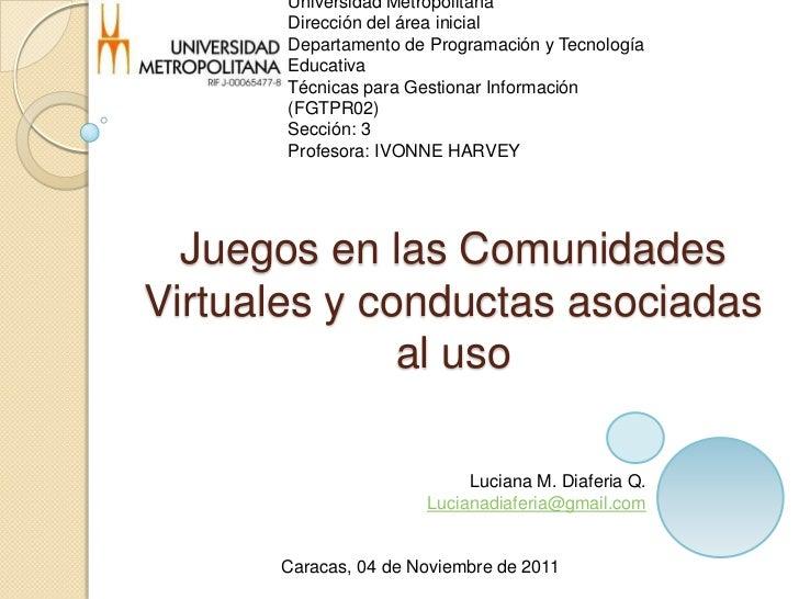 Universidad Metropolitana       Dirección del área inicial       Departamento de Programación y Tecnología       Educativa...