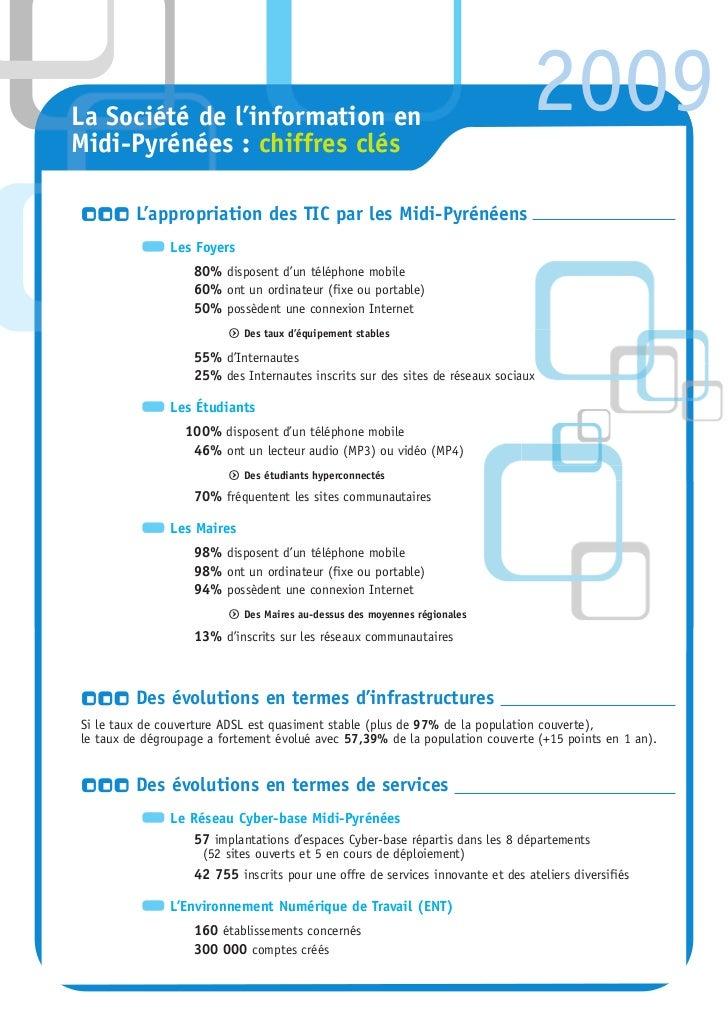 La Société de l'information enMidi-Pyrénées : chiffres clés                                                               ...