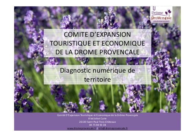 COMITE D'EXPANSION TOURISTIQUE ET ECONOMIQUE DE LA DROME PROVENCALE Diagnostic numérique de territoire Comité D'Expansion ...