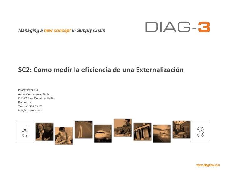 SC2: Como medir la eficiencia de una Externalización<br />DIAGTRES S.A.<br />Avda. Cerdanyola, 92-94<br />O8172 Sant Cugat...