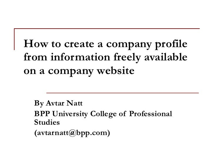 How to create a company profile from information freely for How to make a company profile template