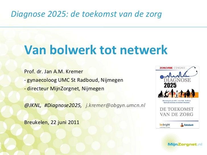 <ul><li>Van bolwerk tot netwerk </li></ul><ul><li>Prof. dr. Jan A.M. Kremer </li></ul><ul><li>- gynaecoloog UMC St Radboud...