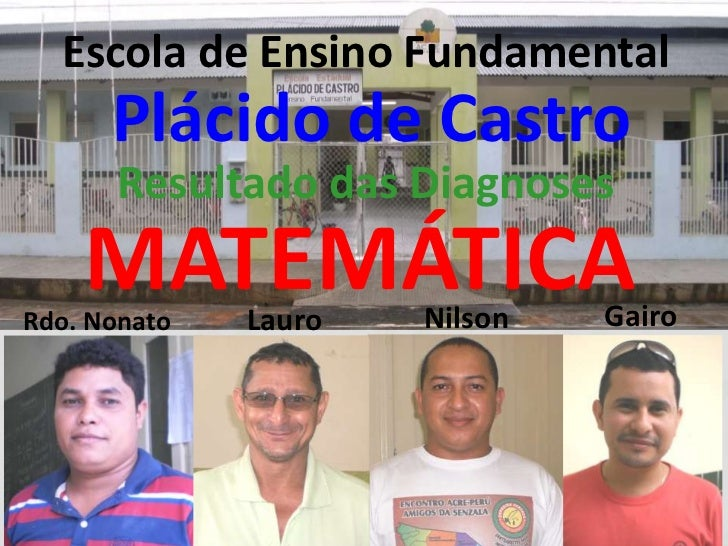 Escola de Ensino Fundamental      Plácido de Castro       Resultado das Diagnoses    MATEMÁTICARdo. Nonato   Lauro   Nilso...