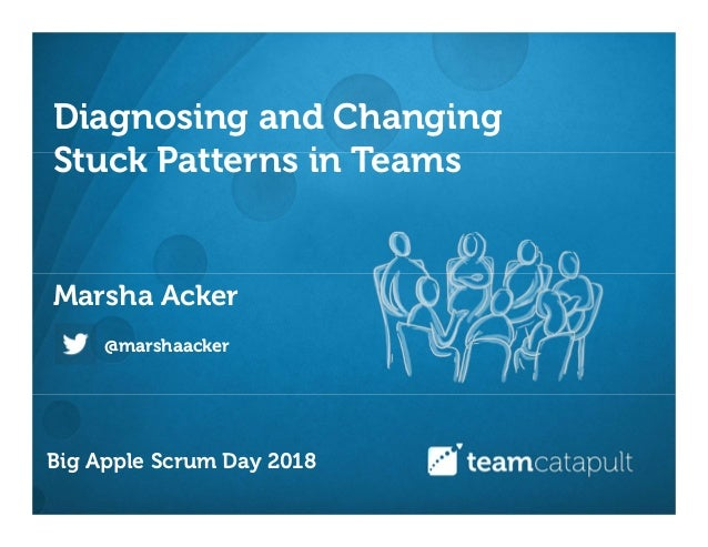 Diagnosing and Changing Stuck Patterns in Teams Marsha Acker @marshaacker Big Apple Scrum Day 2018