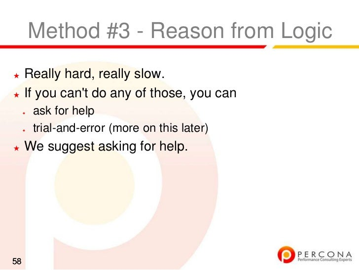 Diagnosing MySQL performance problems