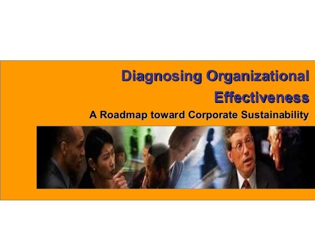 1www.exploreHR.orgDiagnosing OrganizationalDiagnosing OrganizationalEffectivenessEffectivenessA Roadmap toward Corporate S...