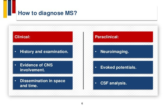 Diagnosis and red flags in Multiple sclerosis