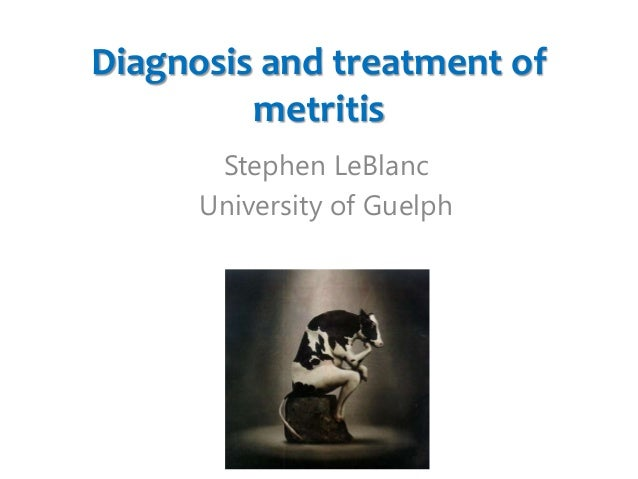 Diagnosis and treatment of metritis Stephen LeBlanc University of Guelph
