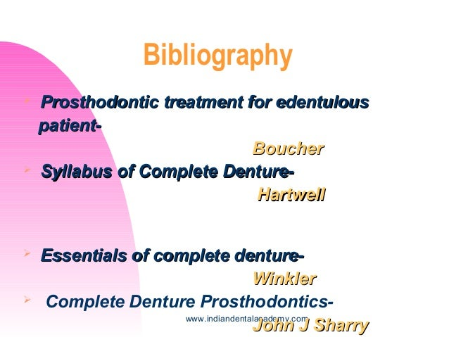 Diagnosis and treatment plan for complete dentures 1 dental impla 38 indiandentalacademy bibliography prosthodontic fandeluxe