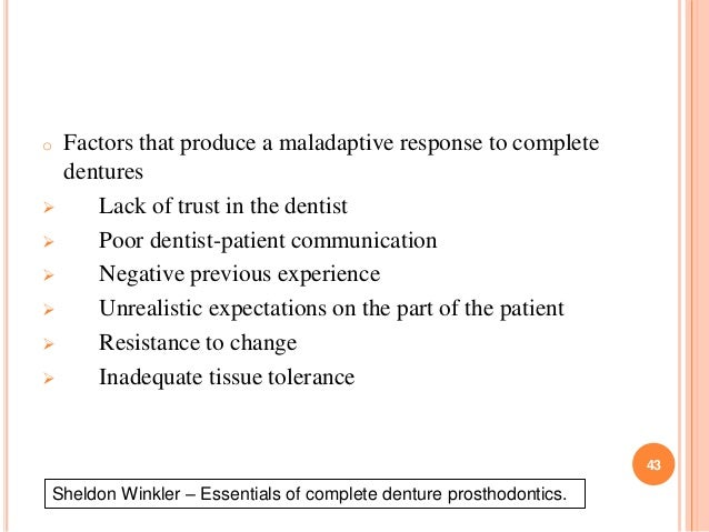 Diagnosis and treatment plan of complete denture winkler essentials of complete denture prosthodontics 43 o fandeluxe