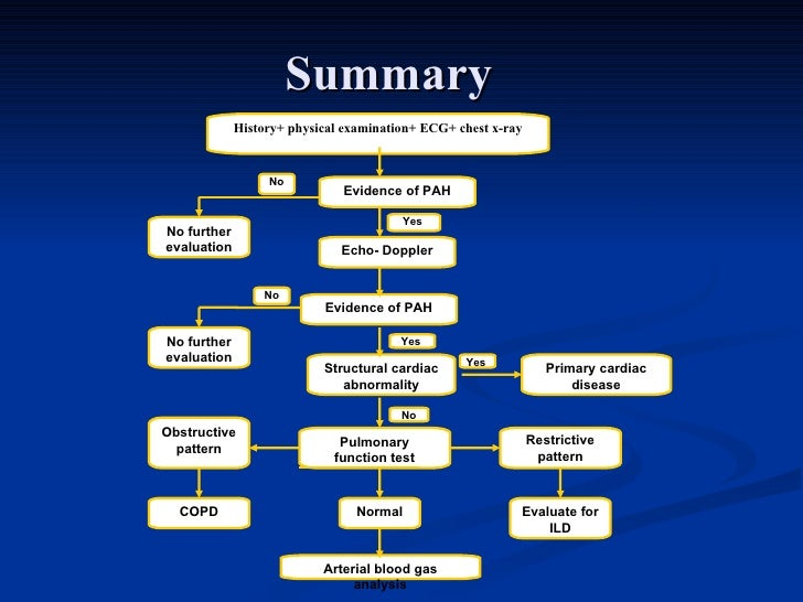 Diagnosis Amp Classification Of Pulmonary Hypertension