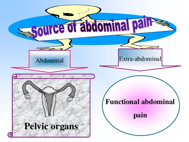 Types of abdominal pain 1 Visceral pain is primitive and therefore related to embryonic devlepment therefore related to em...