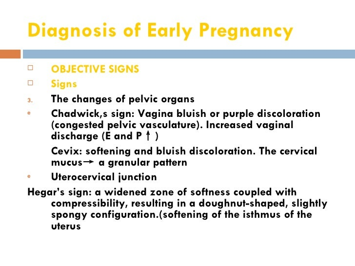 Increased vaginal discharge sign of pregnancy