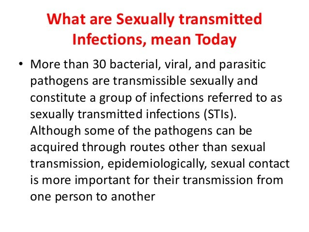 3 bacterial sexually transmitted infections parasites