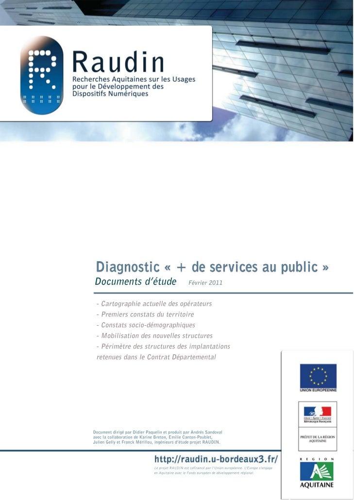 """Diagnostic territorial """"+ de services au public"""""""