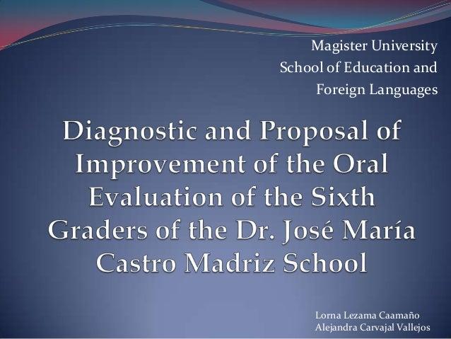 Magister University School of Education and Foreign Languages  Lorna Lezama Caamaño Alejandra Carvajal Vallejos