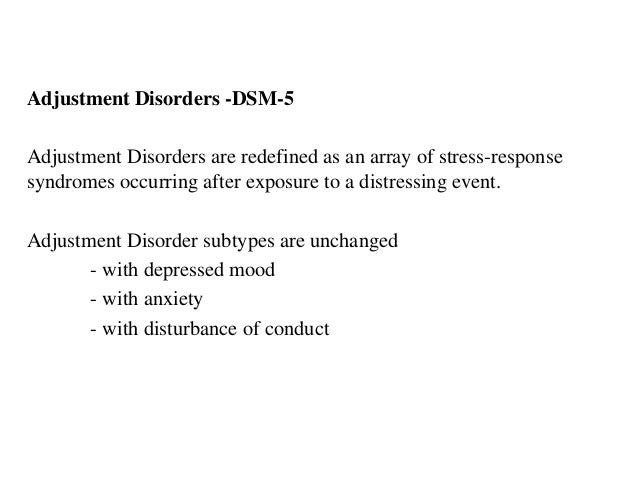 anxiety disorder and adjustment disorder essay A mental health specialist helps you by talking about how to understand and deal with your anxiety disorder cognitive behavioral therapy:.