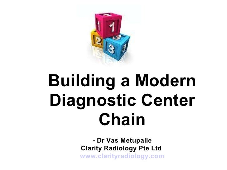 Building a Modern Diagnostic Center Chain - Dr Vas Metupalle Clarity Radiology Pte Ltd  www.clarityradiology.com