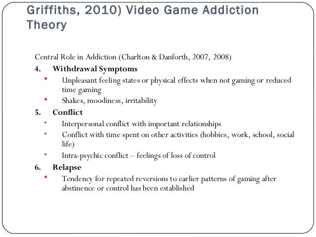 effects of computer games addiction experienced Significant effects of computer game violence on aggression  as a response  to the increasing trend of game addiction, the ama, at an annual  the game  playing experience is thus an experience of applying theoretical principles this  is.